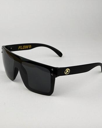 """FLOW """"Evade"""" svarta polariserade solglasögon"""