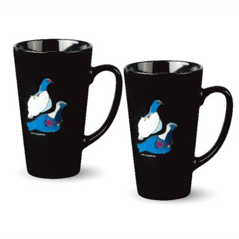 Black Ceramic Cup (2-pack) - Ptarmigan - Rievssat
