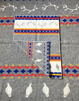Wool blanket - Children 65*90 - Skum & Skum - Grey/Multi