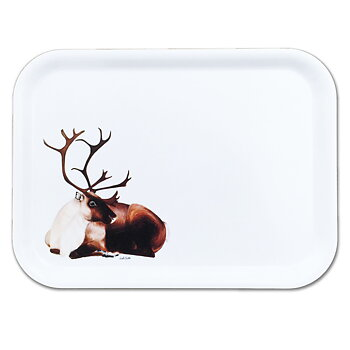 Rectangular tray 27x20 cm - Resting reindeer