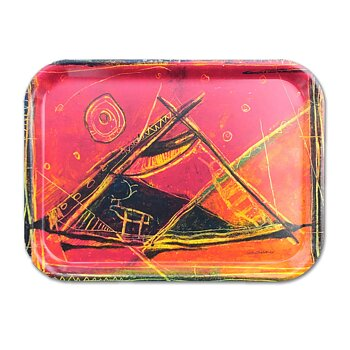 Rectangular tray 27x20 cm - Midnight sun - Beaivi