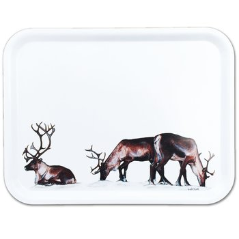 Rectangular tray 43x33 cm - Grazing reindeers