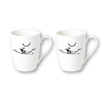 White mug (2-pack) - Moonlight Reindeer - Nikolaus