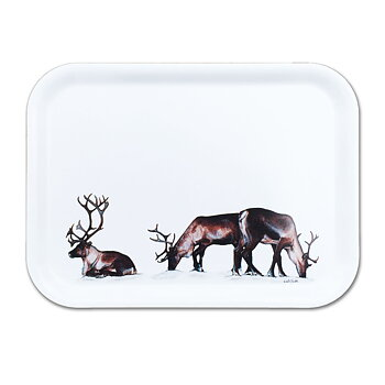 Rectangular tray 27x20 cm - Grazing reindeers