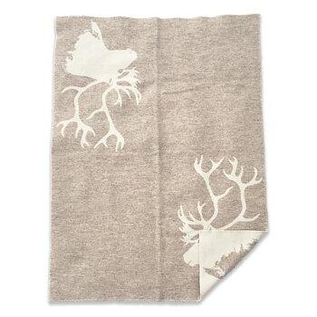 Wool blanket - Leila - Ren med spår - Beige/Off-white