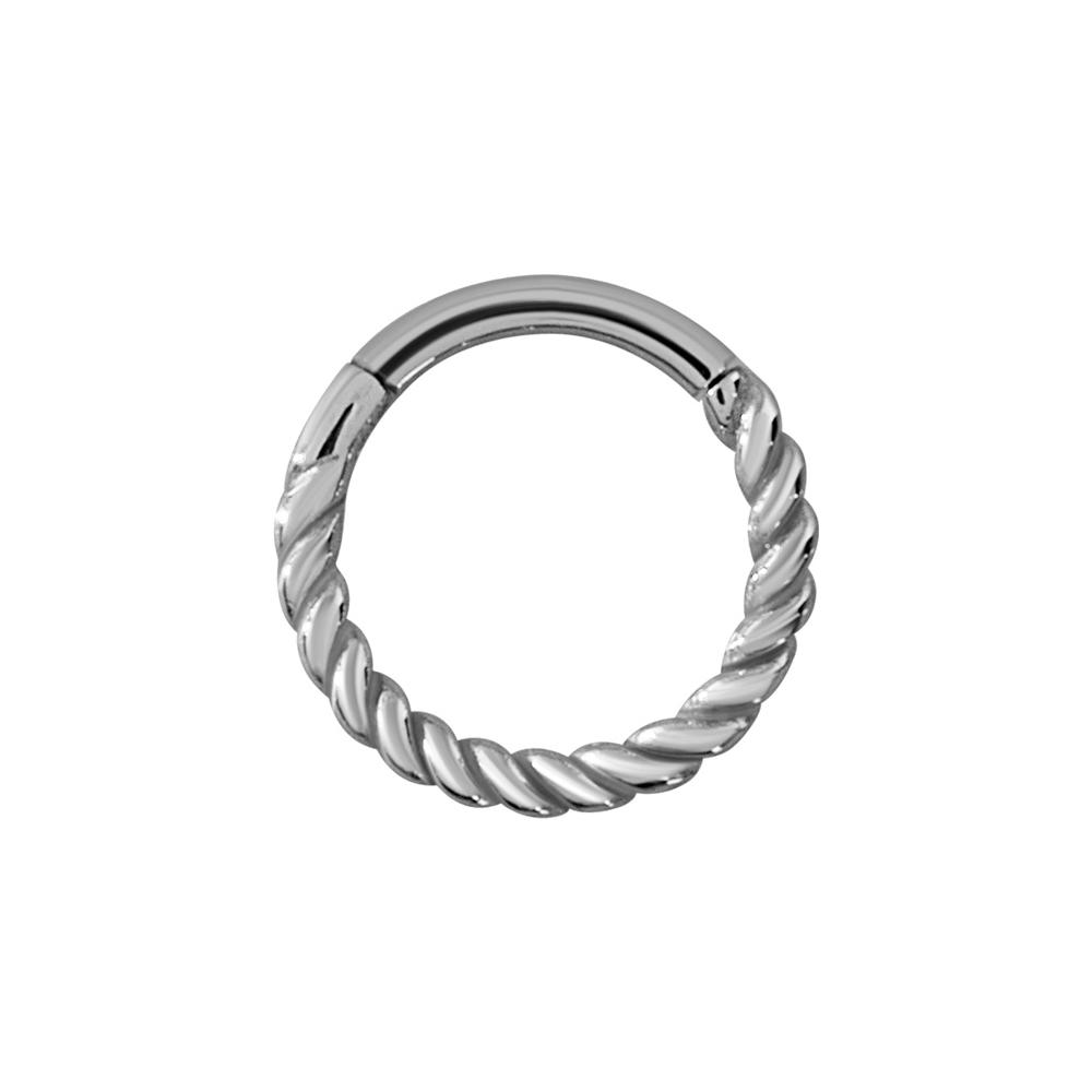 Vackert twistad clickerring-stål-1,2mm