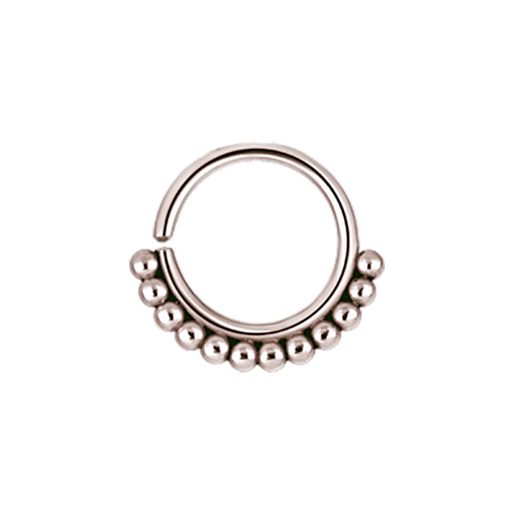 Ring - annealed tribalring - 1,2 - 8 & 10 mm - roséguld