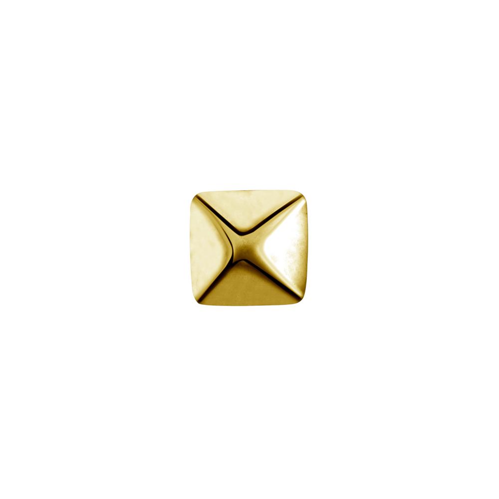 Topp till invändigt gängad labret - pyramid - 24K guld PVD