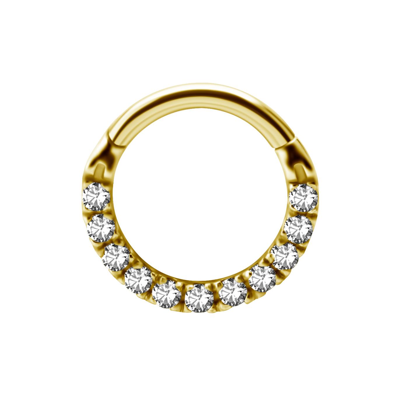 Clicker med kristaller - 24K guld PVD