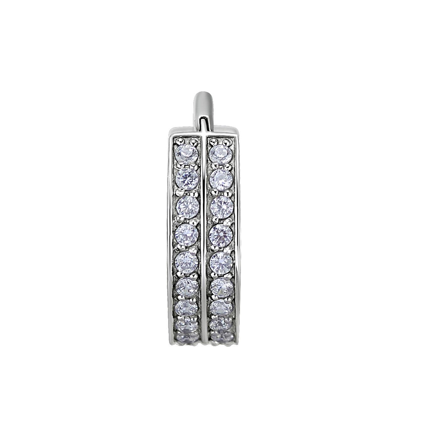 Clicker - dubbelradig kristall - stål