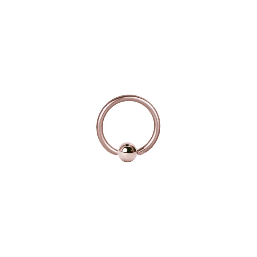 Ball Closure Ring - 1,2 mm - Roséguld
