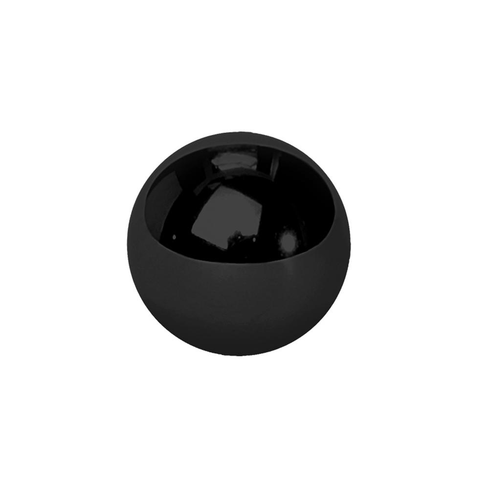 Extrakula till piercing - 1,6 mm - 4,5 & 6 mm - Svart