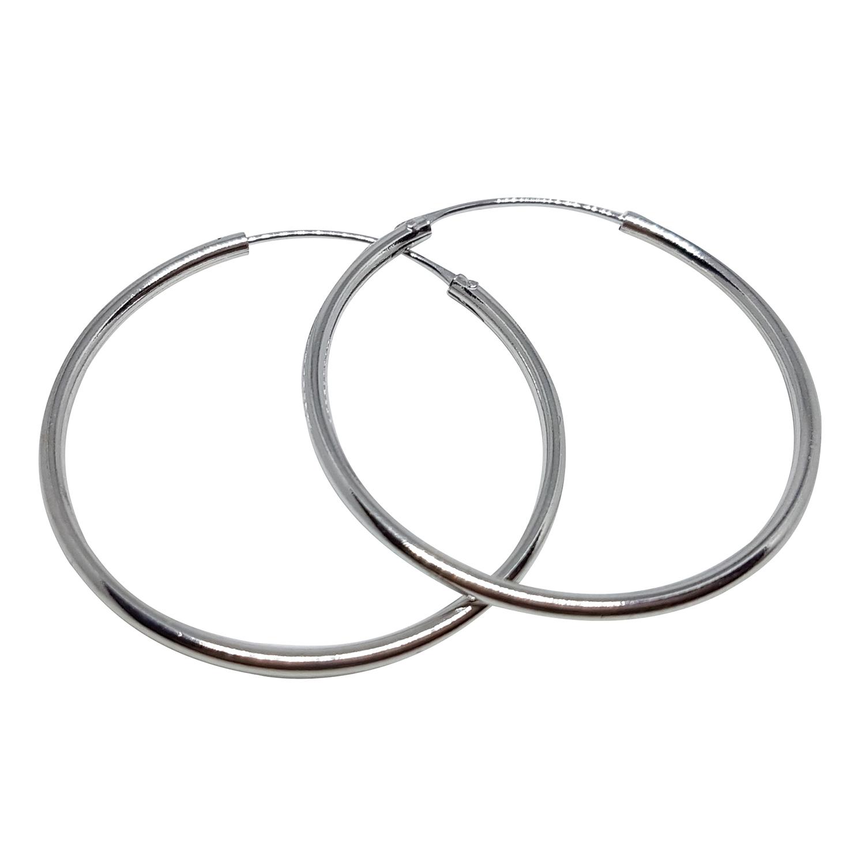Örhänge silverringar - 40 mm - creoler