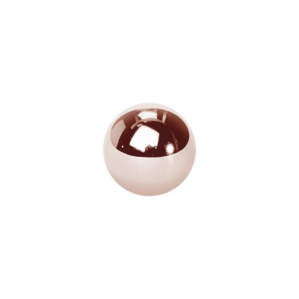 Extrakula till piercing - 1,2 mm - 3 & 4 mm - Roséguld