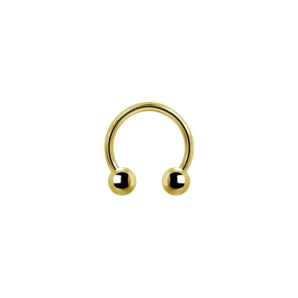 Liten hästsko - 1,2 mm - guld
