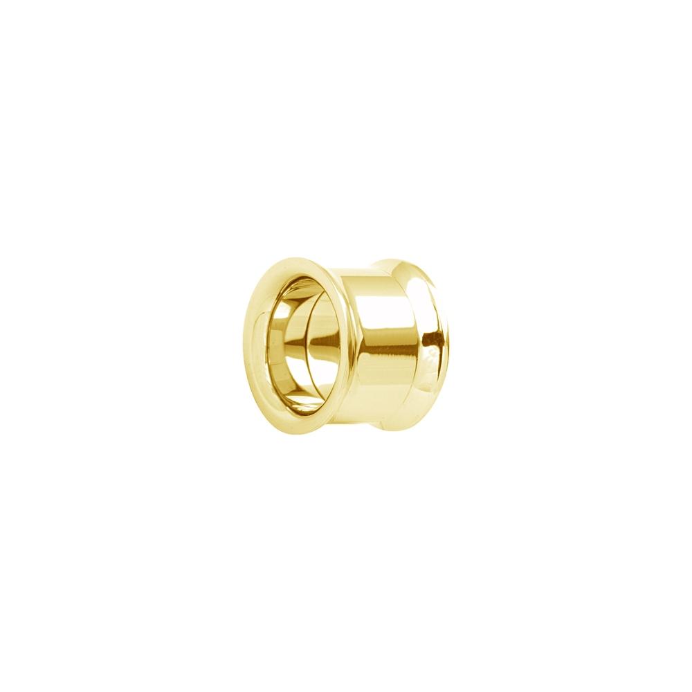 Fleshtunnel - Stora - Invändigt gängad - 12-16 mm - guld