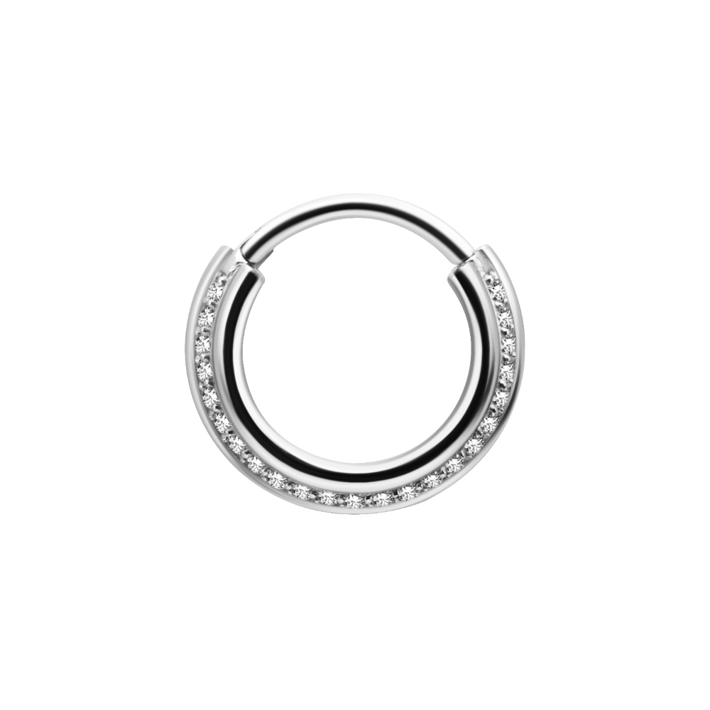 Clicker - 1,2 mm - rundad med kristaller - stål