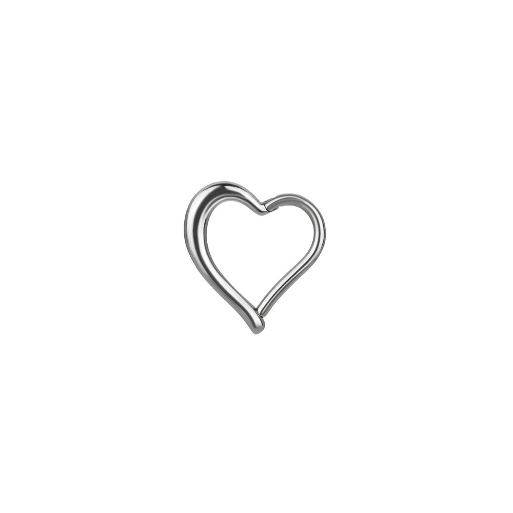 Clicker - 1,2 mm - 8 mm - hjärtform - stål