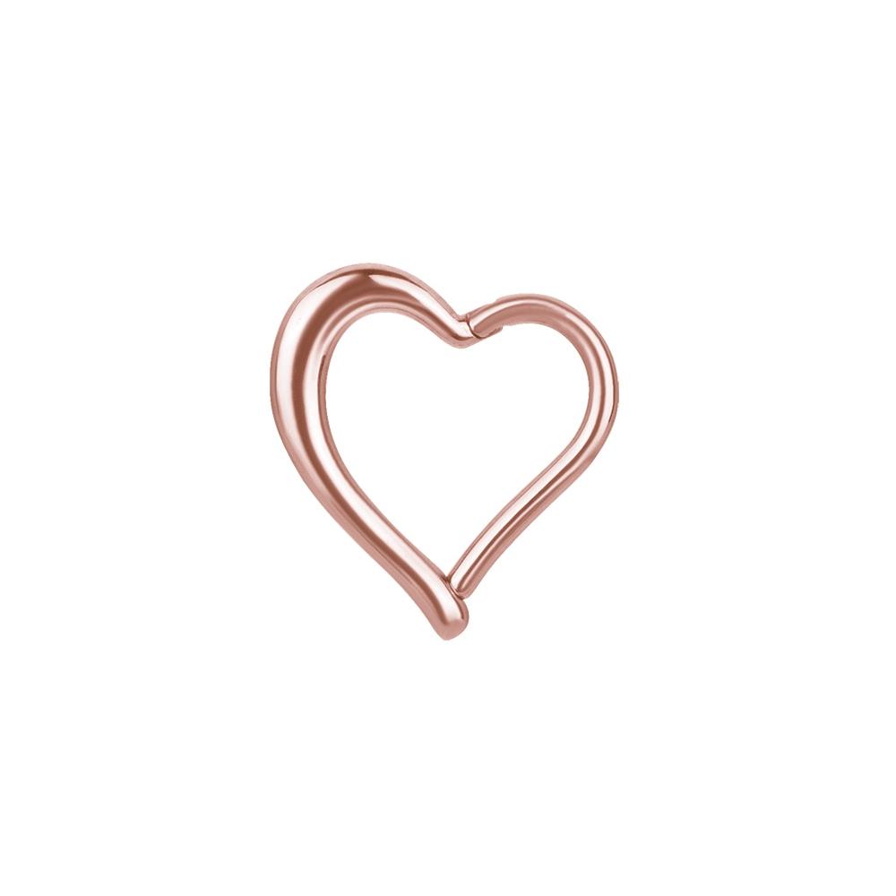 Clicker - 1,2 mm - 8 mm - hjärtform - roséguld