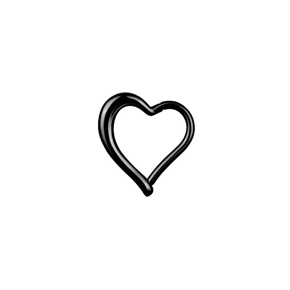 Clicker - 1,2 mm - 8 mm - hjärtform - svart