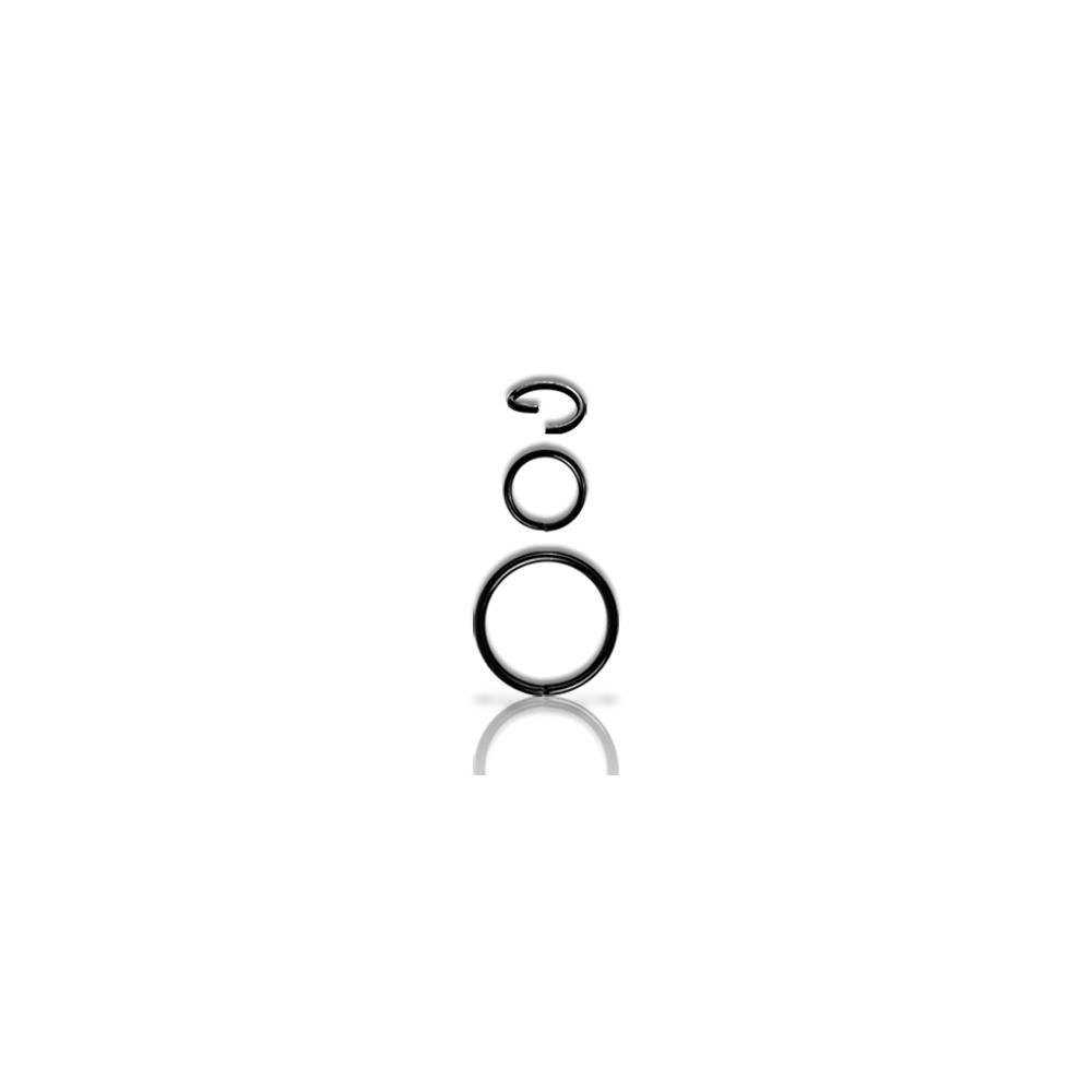 Piercingring - 0,8 mm - svart