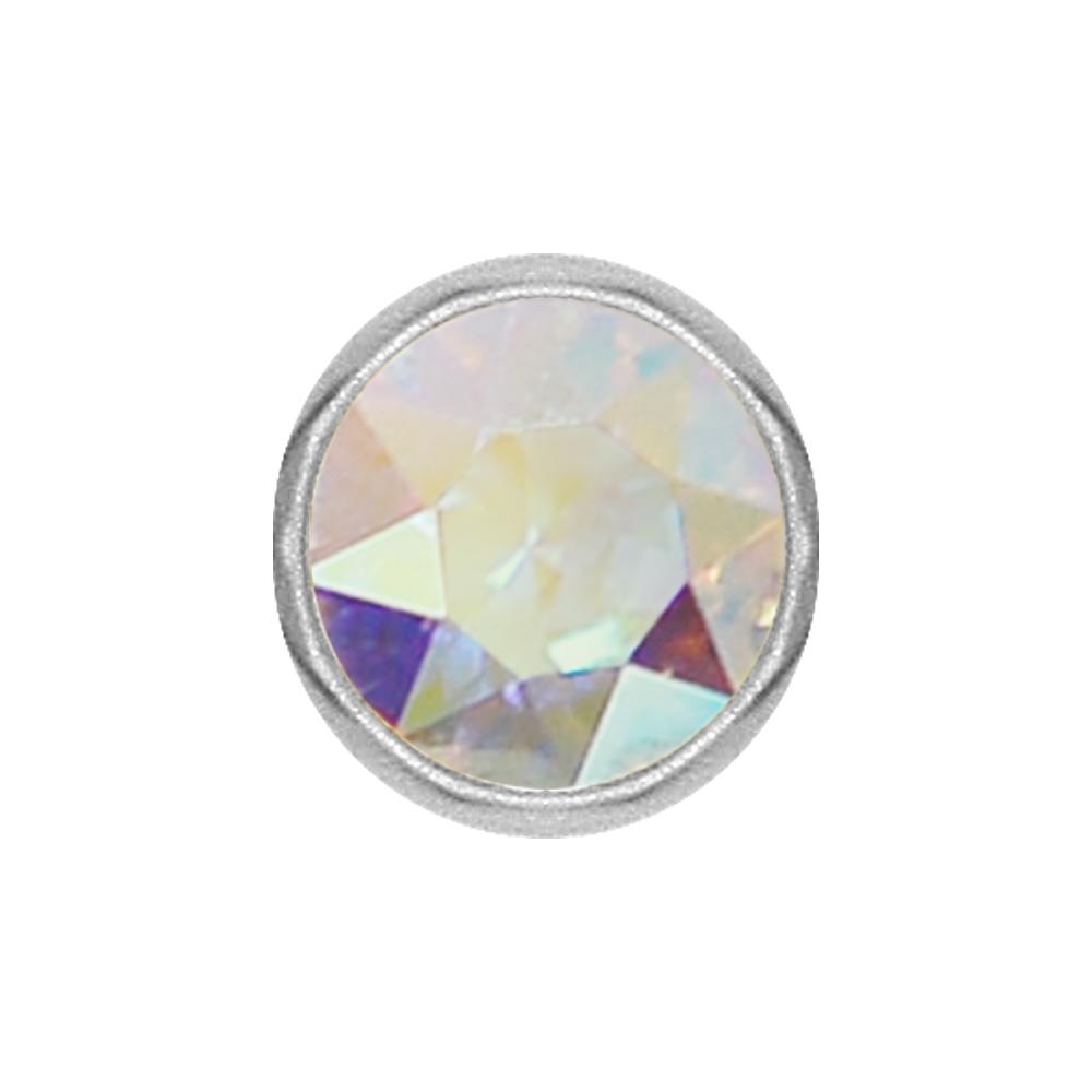 Extrakristall-smiley - 4 mm - Stål - Regnbågsskimrande