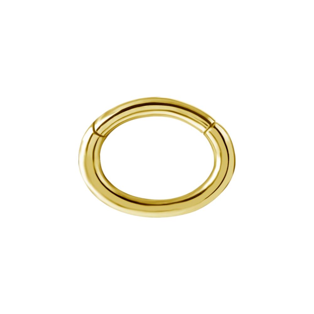 Oval clickerring -1,2*5*7 mm -Kirurgiskt stål- Guldfärgad