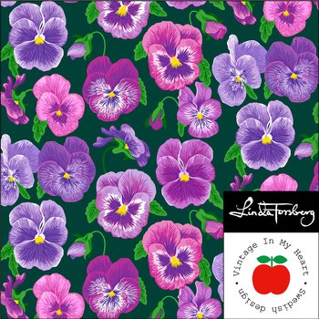 Symphony Green/Lilac - Jersey fabric