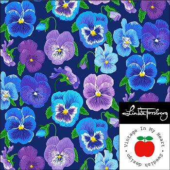 Symphony Blue/Lilac - Jersey fabric