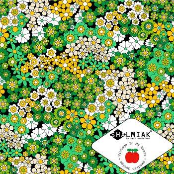 Fiona Black/Green/Yellow - Jerseyfabric