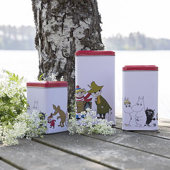 Moomin Red Lids - Tin Cans 3 Sets