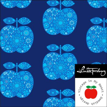 Apple Blue Blossom - Jerseytyg