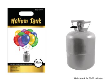 Helium 30 på tub (med 30 ballonger)