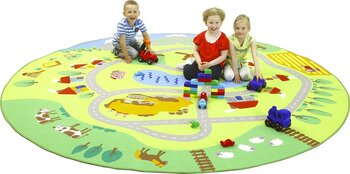 Rug for Kids, City and the River, 300 cm