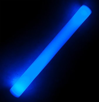 Foam stick with LED light, 48cm (Blue)