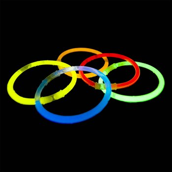 Glowband bracelets, 20cm  (Mix 5 colors)
