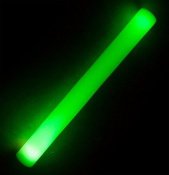 Foam stick with LED light, 48cm (Green)
