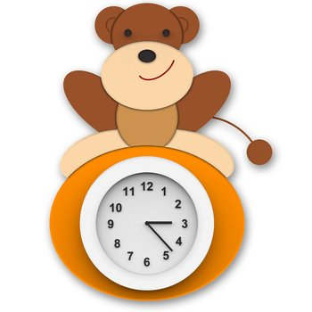 Wall clock Monkey