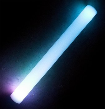 Foam stick with LED light, 48cm (White)