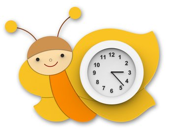 Wall clock - Little Butterfly