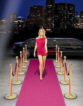 Carpet Pink Gala, 4,5 m x 50 cm