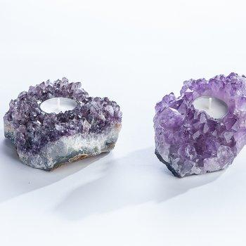Ljuslykta Ametist Kristaller