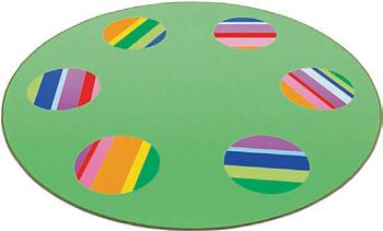 Matta Färgpalett Circelino,  ø 180 cm