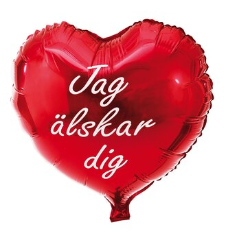 Swedish I love you balloon,