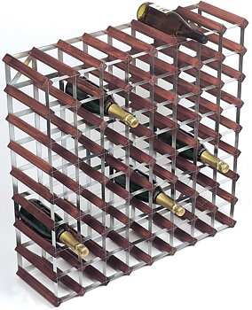 Vinställ (RTA 72 flaskor, Trä / stål)