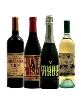 Halloween Wine Bottle Label Stickers (8 Labels)