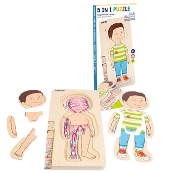 """Body-Puzzle 5 -in-1 """"Boy"""""""