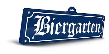 """Sign """"Biergarten"""""""