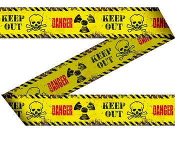 Warning tape - DANGER, 15 m