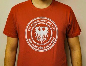 T-shirt - Ett hjärta rött och vitt